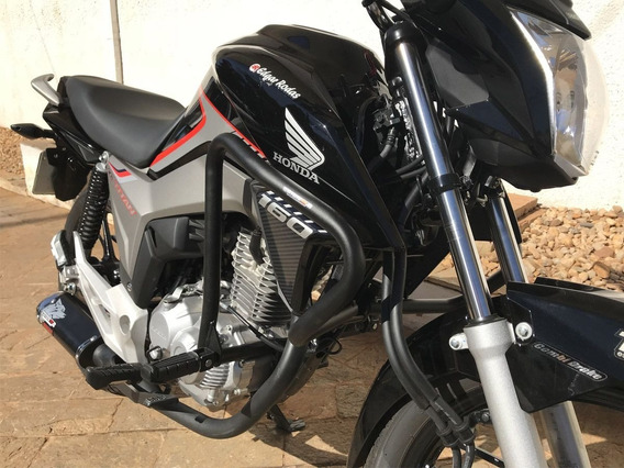 Protetor Carenagem Motor Titan 160 Fan Start C/pedal Coyote