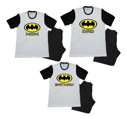 Pijama Combo Familiar Batman Papa Mama Hijo
