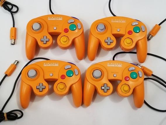 Controle Original Nintendo Gamecube Laranja