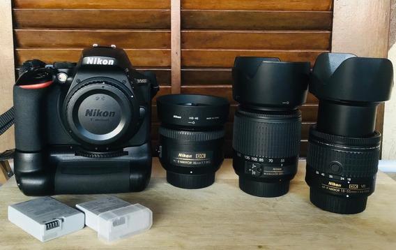Nikon D5600 + 18-55mm + 55-200mm + 35mm