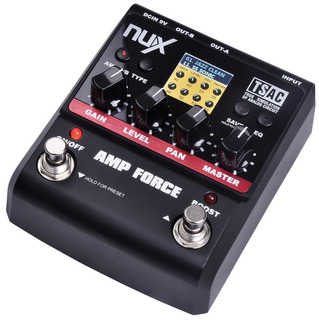 Nux Amp Force Pedal Emulador Amplificador True Bypass Lcd
