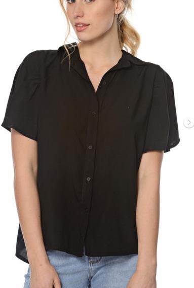 Camisa Manga Corta Con Vuelos