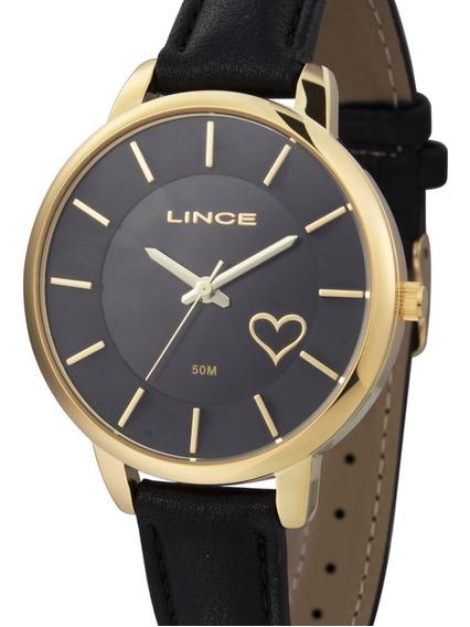 Relógio Lince Feminino Couro Preto - Lrc4528l P1px