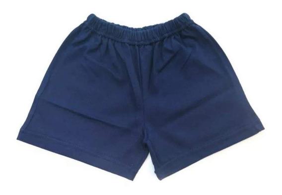 Short Azul De Algodón Por Docena Del Talle 4 Al 16