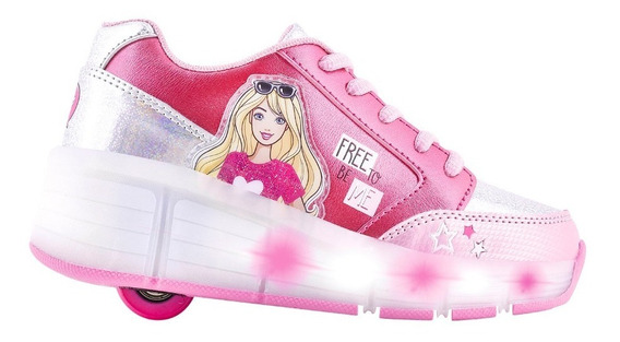 Zapatilla Rueda Led Barbie By Footy (28-33)- Footy Oficial
