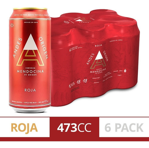 Cerveza Andes Origen Roja X473 Pack X6u