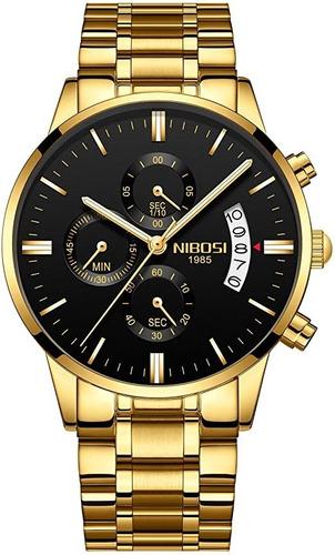 Nibosi Blindado Anti-risco 100%funcional-relógios Masculino
