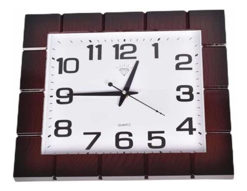 Reloj De Pared Grande Cuadrado 33cmx 40cm 2880