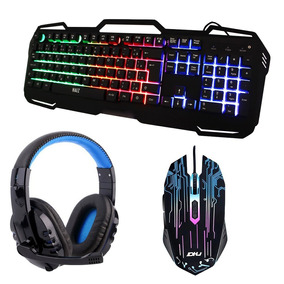 Kit Gamer Teclado Gamer Mouse Luz Led E Headset