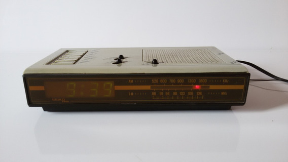 Rádio Relógio Despertador Seiko Antigo Funcionando