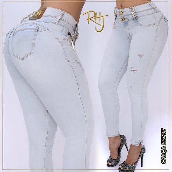 Calça Jeans Feminina Rhero Jeans Estilo Pit Bull Com Bojo Vários Modelos ( Clica Em Cor E Veja Todas Opções ) Original