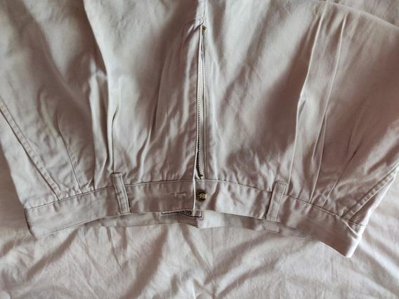 Pantalon Pinzado Guess De Gabardina Talle 32/34 Color Beige