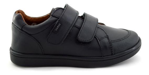 Zapato Escolar Coqueta Para Niño 158907-a Negro [cta741]