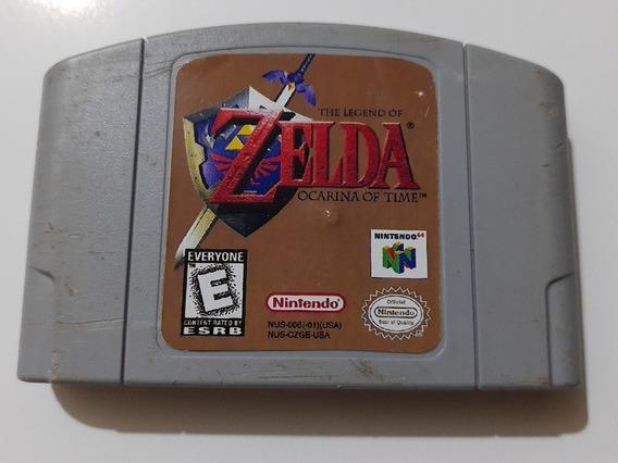 N-64: Zelda Ocarina Of Time Rpg Original Americano! Novinho!