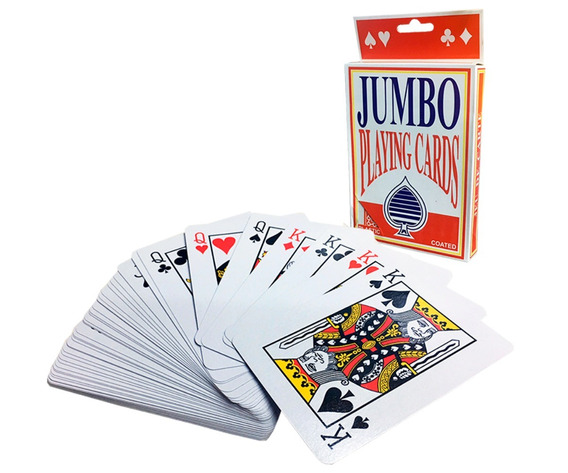 Mazo De Cartas Jumbo Poker O Magia Baraja De Naipes Grandes