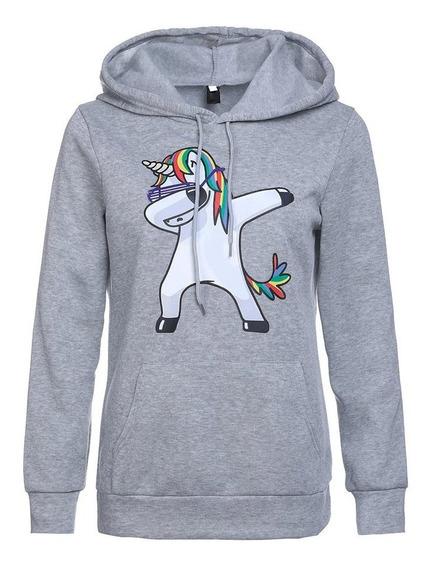 Nuevo Unicornio Impresión Sudadera Con Capucha Ropa Suéter C