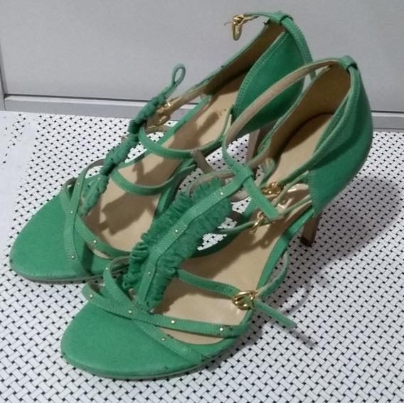 Sandália Cecconelo Verde - Tamanho 37 (usado)