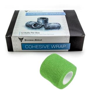 Fita Adesiva Bandagem Elastica Coesiva 12 Unidades Verde