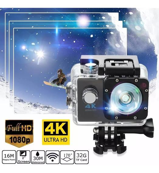 Câmera De Ação Sj9000 + Cartão 32gb