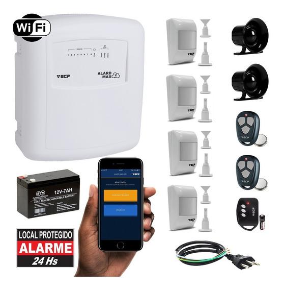 Kit Alarme Residencial Wifi App iPhone Internet 4 Sensores