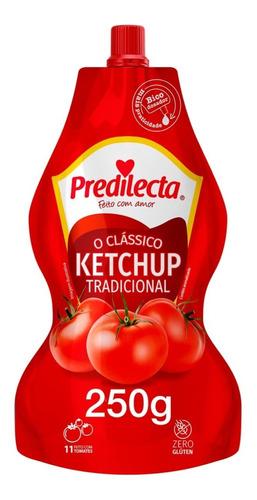 Imagem 1 de 3 de Ketchup Tradicional 250g Sachê Com Bico Dosador Predilecta