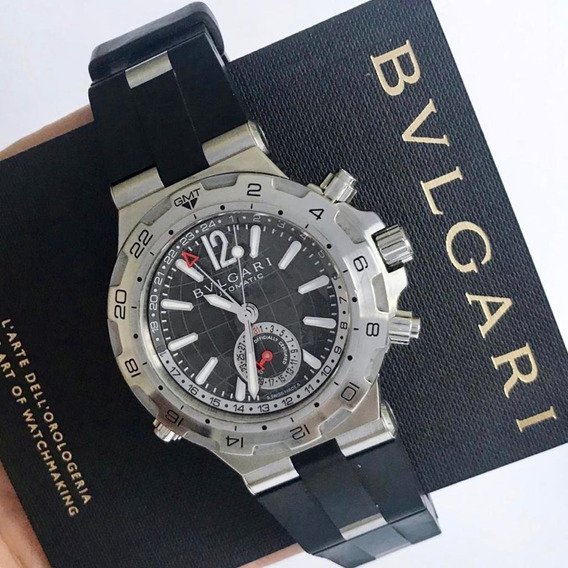 Bvlgari Diagono 3 Time Zone Gmt Grey Dial