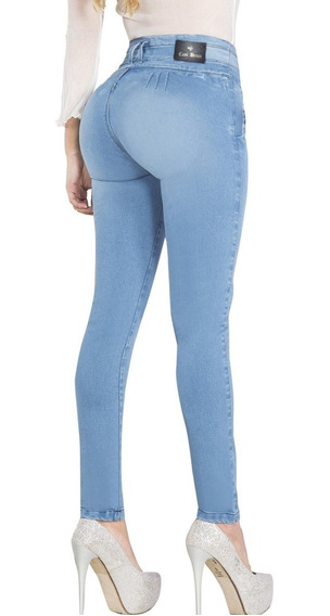 Jeans Mujer S/bolsillos Traseros Levanta Cola Calse Perfecto