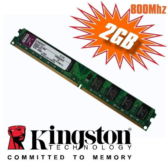 Memória Kingston Ddr2 2gb 800mhz Desktop Pc Computador
