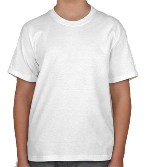 10 Camisetas Juvenis Brancas Pv Malha Fria 10/12/14/16 Anos