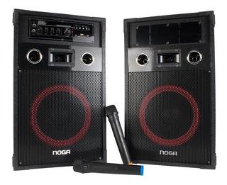Bafles Par Karaoke Bluetooth 60w 2 Mic 12 Cuotas Cyber Fest