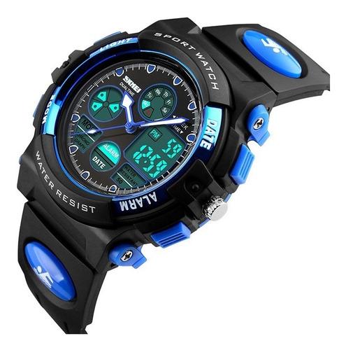 Reloj Quarzo Y Digital Niños Sumergible / Cronometro / Alarm