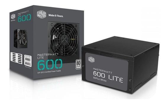 Fonte Atx 600w Masterwatt Lite 80 Plus Cooler Master