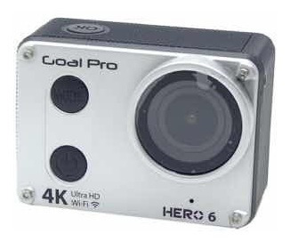 Camera Xtreme Goalpro Hero 6 - Wifi - 4k - Prata