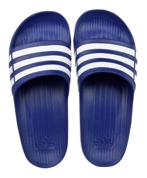Chinelo adidas Duramo Slide - Azul E Branco