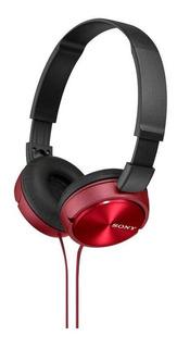 Fone De Ouvido Sony Headphone Microfone Integrado Vermelho