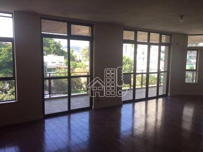 Apartamento Com 4 Dormitórios Para Alugar, 280 M² Por R$ 3.000/mês - Icaraí - Niterói/rj - Ap2108