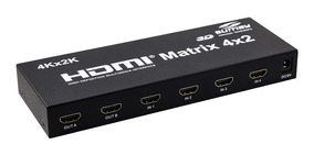 Matrix Hdmi 1.4 Speed Sumay Sm-mx4.2 4 In X 2 Out