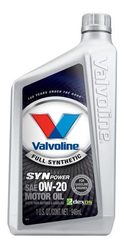 Aceite Sintetico Motor Synpower Sae 0w20 Litro Valvoline