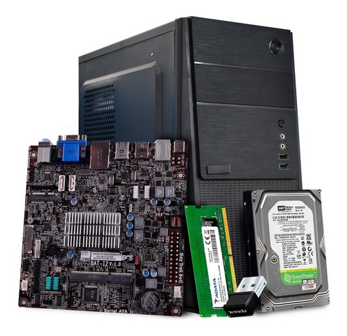 Imagen 1 de 9 de Computadora Pc Barata Cpu Intel Celeron /4gb Ram/ 2tb /wi-fi