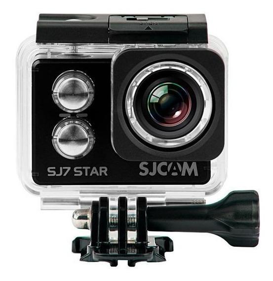 Câmera De Ação Sjcam Sj7 Star 4k Wi-fi Micro Sd 12mp - Preto