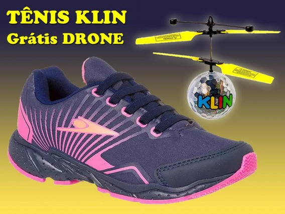 Tenis Drone Mania Klin Pink - Grátis Brinquedo Drone Led