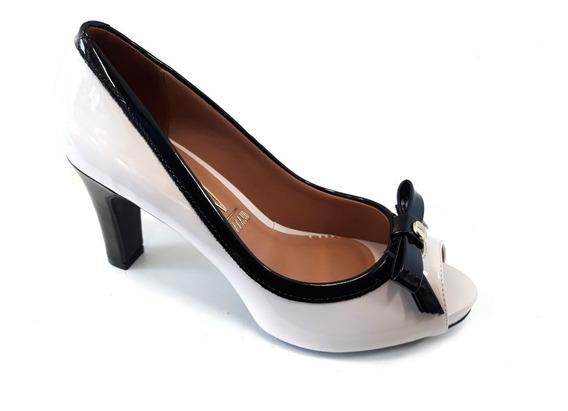 Zapato Vizzano Stilleto Boca Pez Charol Verniz Taco 9cm Moño