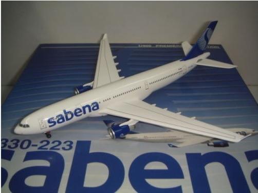 Maquete/miniatura Avião Airbus A330 Sabena 1:400