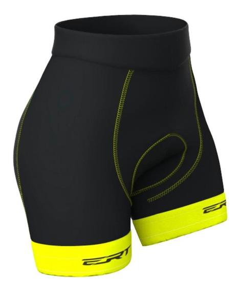 Bermuda Ert Forro Gel Amarela 2020 Ciclismo Mtb Feminina