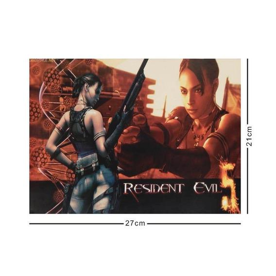 Resident Evil Cromo Poster Tamaño Carta 5 Africa