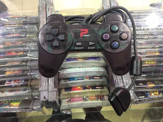 Playstation 1 Controle Da Players Transparente Sem Analogico