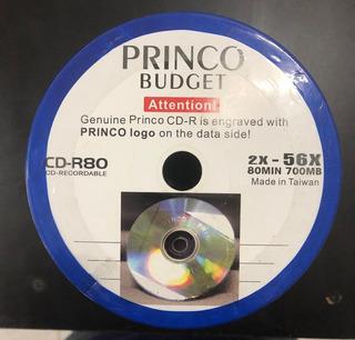 Cd-r Princo Original 80 Min 700 Mb 56x (torre 100 Unidades)