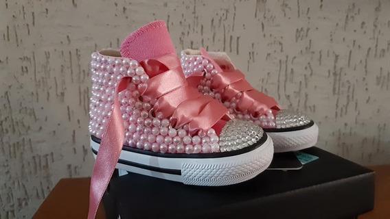 All Star Personalizado Infantil Rosa