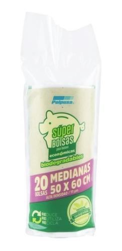 Polpusa 1 Rollo Basura Biodegradable Ad 50x60cm (20 Bolsas)