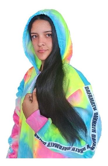 Sweater Dafamath Explosión De Colores Con Capucha Unisex